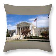 The Supreme Court Facade Throw Pillow