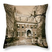 The Taft House - Brown University 1958 Throw Pillow