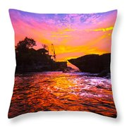 The Tanah Lot Temple - Bali - Indonesia Throw Pillow