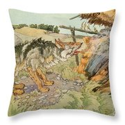 The Three Little Pigs Throw Pillow
