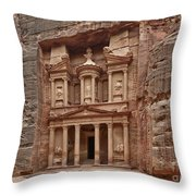 the treasury Nabataean ancient town Petra Throw Pillow