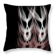 The Twins Throw Pillow by Christopher Gaston