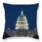 The United States Capitol Building Throw Pillow