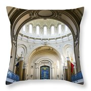 The United States Naval Academy Chapel Throw Pillow