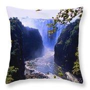 The Victoria Falls Throw Pillow