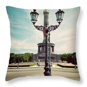 The Victory Column In Berlin Germany Throw Pillow