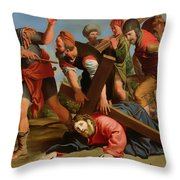 The Way To Calvary Throw Pillow