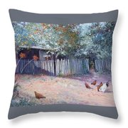 The White Picket Fence Throw Pillow
