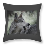 The Wolf 4 Throw Pillow