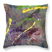 The Writing On The Wall 11 Throw Pillow