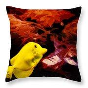 The Yellow Queen Throw Pillow