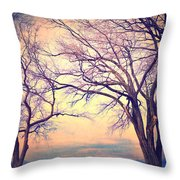 The Yesterday Bench Throw Pillow
