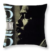 Thelonious Monk -  5 By Monk By 5 Throw Pillow