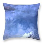 There Be A Storm A Brewin In Nebraska Throw Pillow