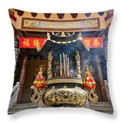 Thien Hau Temple A Taoist Temple In Chinatown Of Los Angeles. Throw Pillow