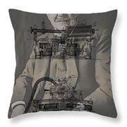 Thomas Edison's Phonograph Throw Pillow