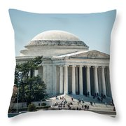 Thomas Jefferson Memorial In Washington Dc Usa Throw Pillow