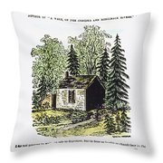 Thoreau Walden, 1875 Throw Pillow