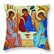 Three Angels Throw Pillow