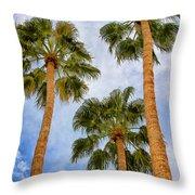 Three Palms Palm Springs Throw Pillow