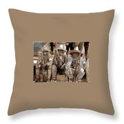 Three  Revolutionary Soldiers With Rifles Unknown Mexico Location Or Date-2014 Throw Pillow