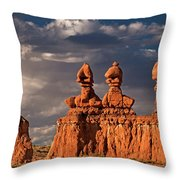 Three Sisters Hoodoos Goblin Valley Utah Throw Pillow