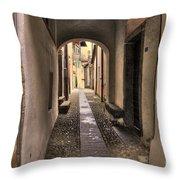 Tight Alley Throw Pillow