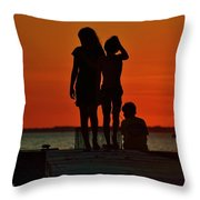 Time With Friends Throw Pillow