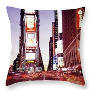 Times Square, Nyc, New York City, New Throw Pillow