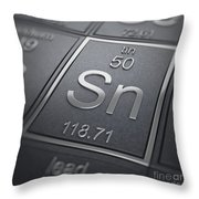 Tin Chemical Element Throw Pillow