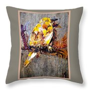 Tired Bird Throw Pillow