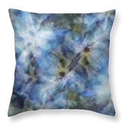 Tissue Paper Blues Throw Pillow