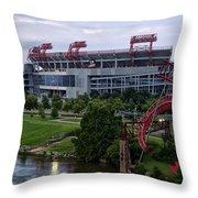 Titans Lp Field Throw Pillow