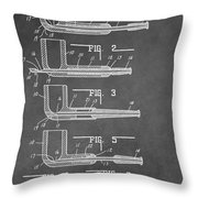 Tobacco Pipe Patent Throw Pillow