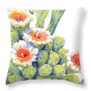 Top Bloomers Throw Pillow