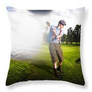 Top Flight Golf Throw Pillow