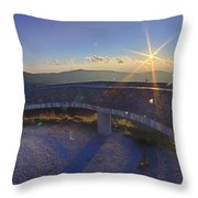 Top Of Mount Mitchell Before Sunset Throw Pillow
