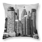 Toronto On Skyline Throw Pillow