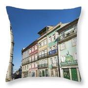 Torre Dos Clerigos Porto Portugal Throw Pillow