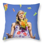 Toss The Feathers Throw Pillow