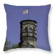 Tower And Flag Cologne Germany Throw Pillow