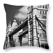 Tower Bridge In London Throw Pillow