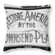 Townsend Plan, 1939 Throw Pillow