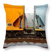 Train Cars 2 Throw Pillow