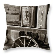Train Station Luggage Cart Throw Pillow