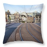 Transport Infrastructure In Amsterdam Throw Pillow