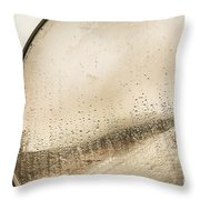 Travelling Photographer Taking Wet Weather Photo  Throw Pillow