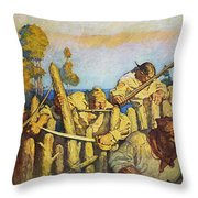 Treasure Island, 1911 Throw Pillow