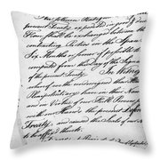 Treaty Of Alliance, 1778 Throw Pillow