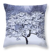 Tree Frosting Throw Pillow